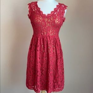 Greylin Red Lace Dress